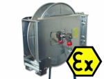 Hose reel spring-biased INOX 20 m Ex