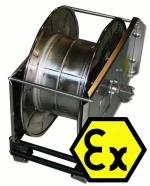 Hose reel spring-biased, INOX 40 m Ex
