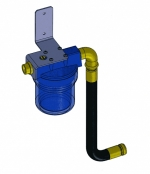 "Water filter 5"" wall mounting set"